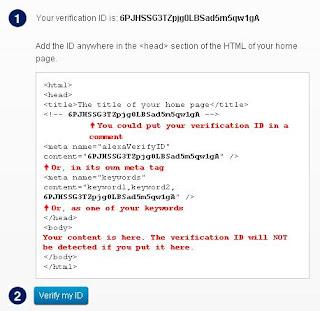 Cara Memverifikasi Blog di Alexa