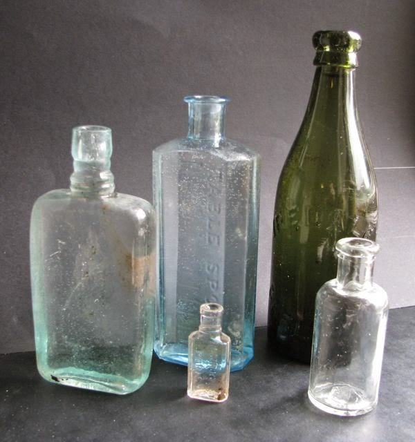 Superior Old Glass Bottles Part - 14: More Old Glass Bottles Found