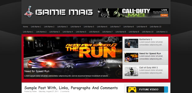 FREE Game Mag Blogger Template