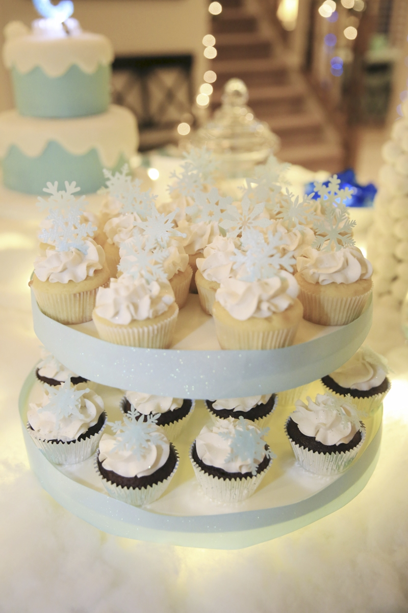 Frozen Inspired Birthday Party Cupcakes