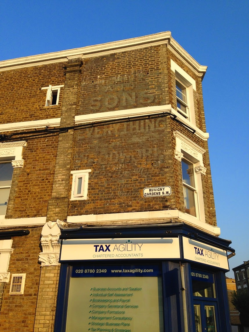 Ghost sign, Putney, London SW15