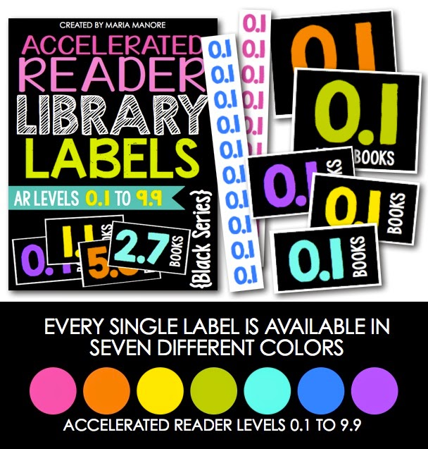 EDITABLE and CUSTOMIZABLE library labels for Accelerated Reader books