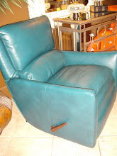 Teal Leather Recliner
