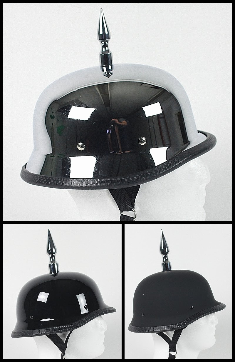 Spiked German Motorcycle Helmet