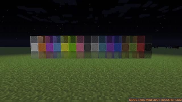 Cristales que iluminan a la noche en Minecraft 1.7.10