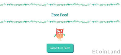 Collect free feeds at bottom of the captcha popup, every 10 minutes - 3 hours