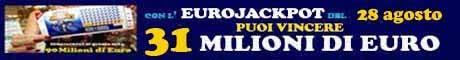 Eurojackpot estrazione del 28 Agosto 2015