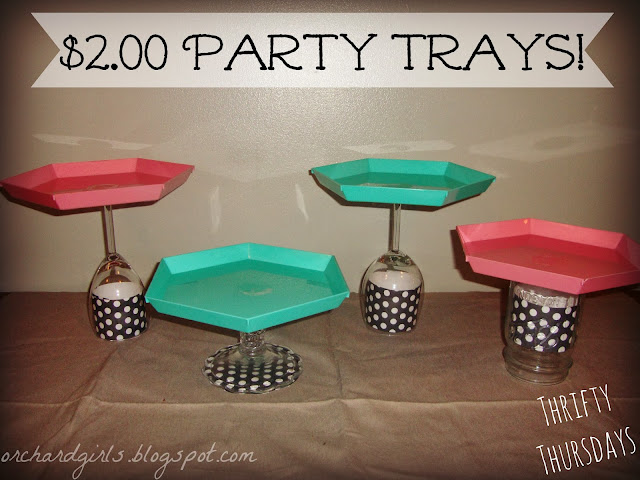 Cute $2 DIY- Party Trays