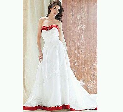 muyameno: vestidos de novia de color rojo
