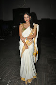 Actress Nivitha Glamorous photos in Saree-thumbnail-13