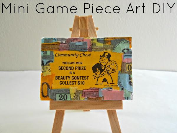 Mini Game Piece Art DIY