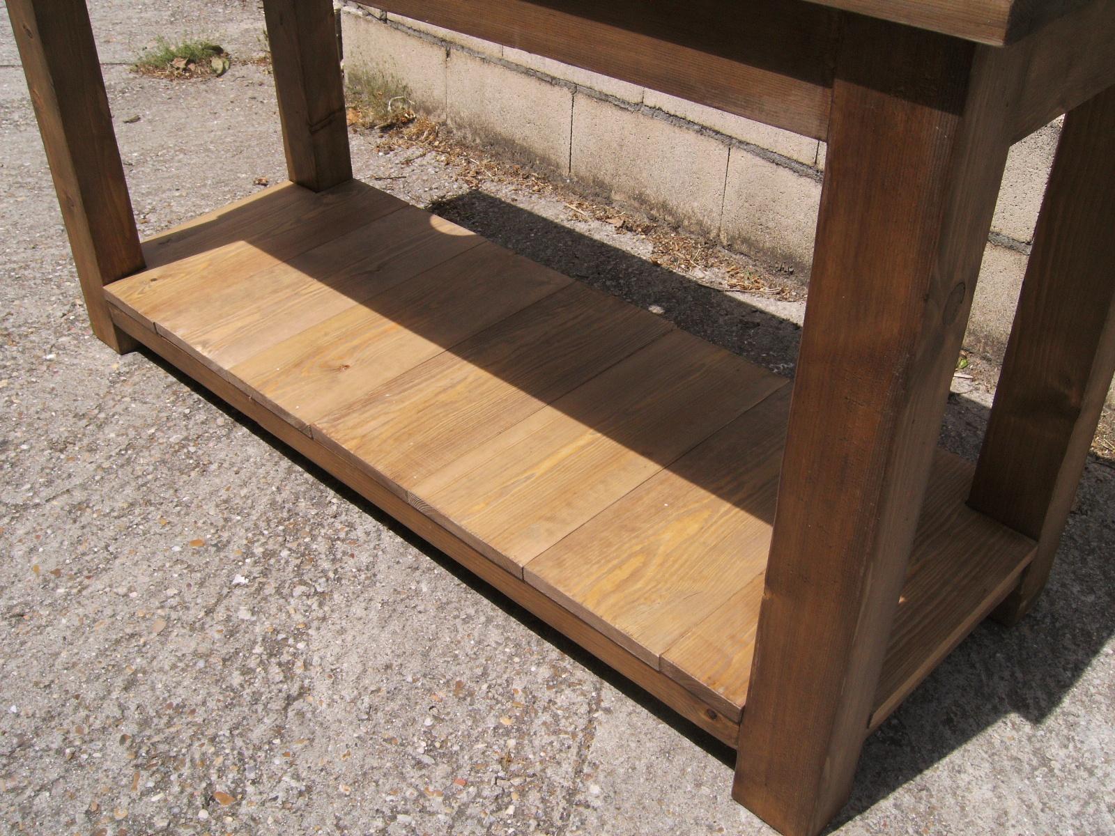 Mesa lavabo de madera dise o y estilo para el ba o - Bancos de madera para banos ...