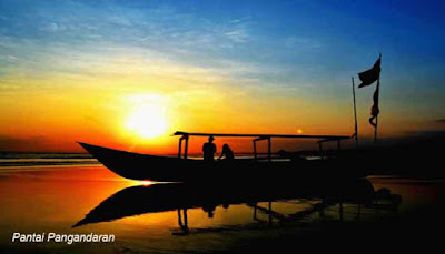 Menyaksikan Sunset dari Pantai Pangandaran