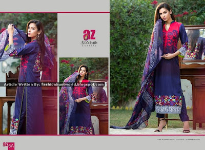 Mahnoor Embroidered Eid Collection 2015 By Al Zohaib Textile