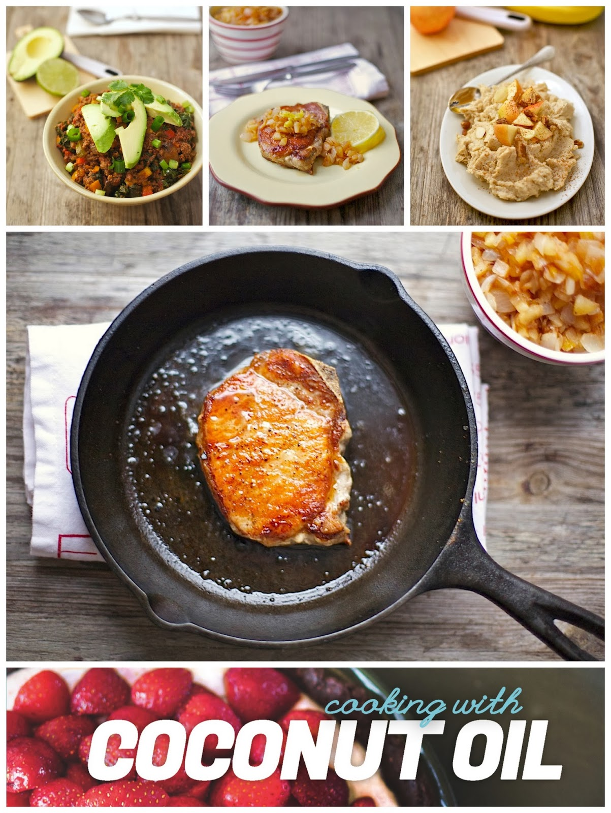 Pork Chops & Apple Compote (Gluten free, Paleo, Whole30)
