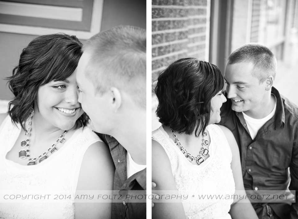 engagement session in downtown Terre Haute