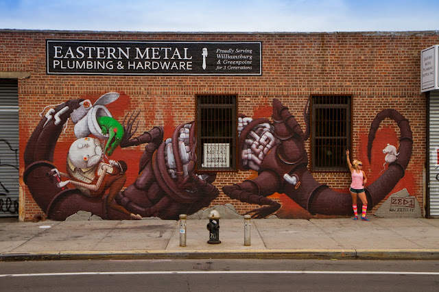 New Street Art Mural By Italian Artist ZED1 In Brooklyn, New York City. 1