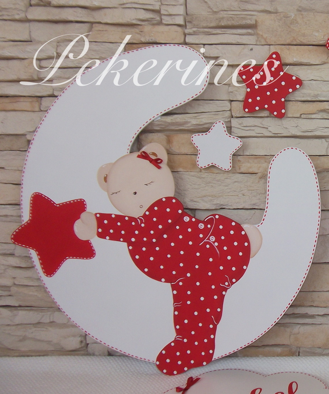 Decoraci n infantil pekerines siluetas de madera para for Decoracion de cuarto para ninas gemelas