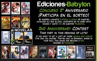 sorteo facebook segundo aniversario ediciones babylon