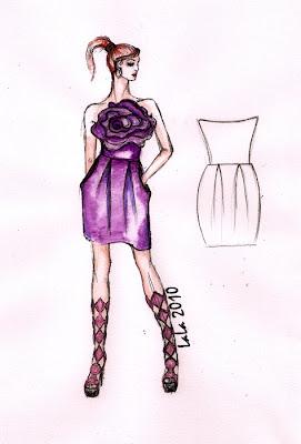Gotowy wykrój - sukienka papavero&LaLa