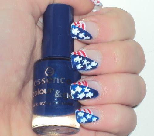 Amerikaanse vlag nagels.