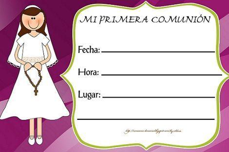 invitaciones de primera comunion en blanco