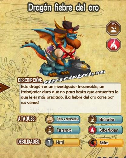 imagen de las caracteristicas del dragon fiebre del oro