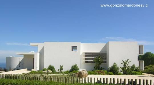 Residencia estilo Contemporáneo frente al mar en Beranda, Cachagua, Chile