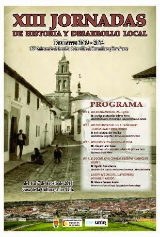 XIII Jornadas de Historia y Desarrollo Local de Dos Torres
