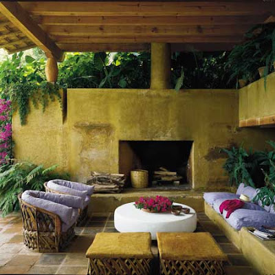 Noosa life style dreaming of a fire pit cosy outdoor rooms for Outdoor room with fireplace