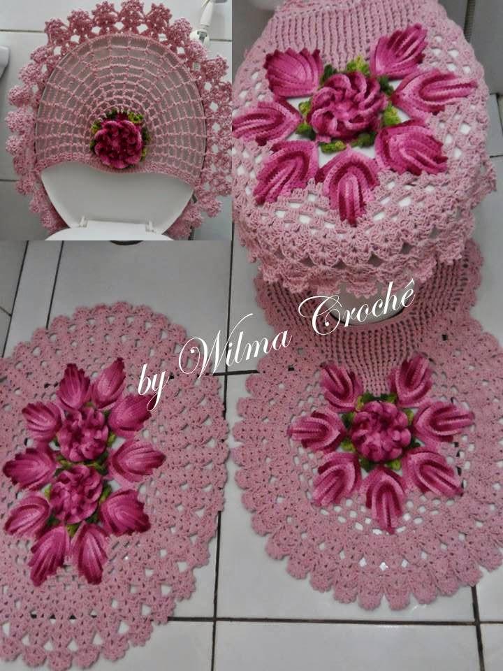 Wilma Crochê -> Jogo De Banheiro Simples Em Croche Com Grafico