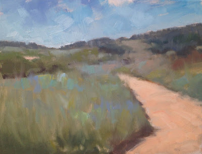 Impressionist oil landscape painting by artist Steve Allrich.