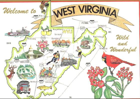 West Virginia Fun Facts State Symbols Photos Visitor Info Akrossfo