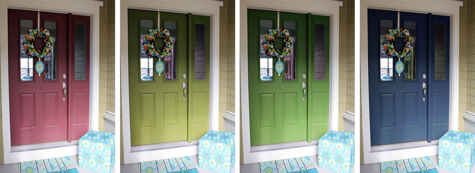 Lovely Changing The Color Of The Front Door