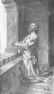 Daniel praying by G.C.H. - Daniel 6:10