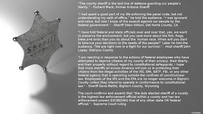 sheriff quotes
