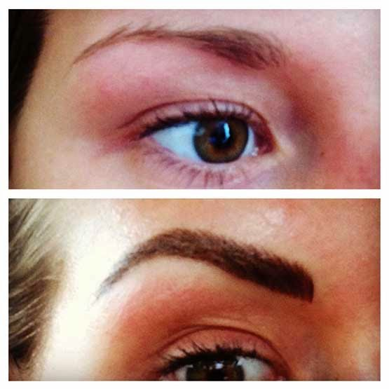 procedure to cosmetic eyebrow tattooing salongeschichten