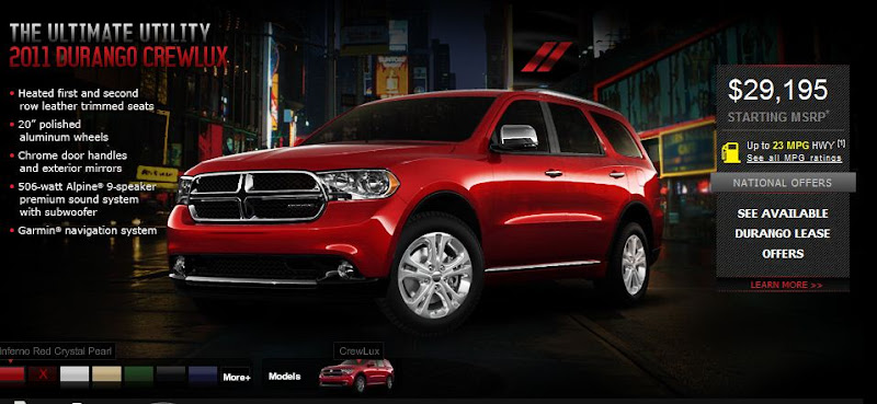 2011 New Dodge Durango