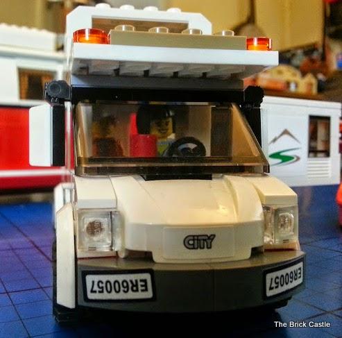LEGO City Camper Van model 60057 front windscreen view