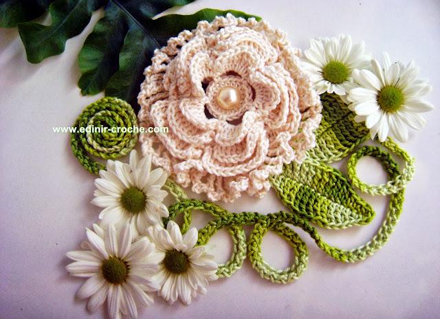 flores em croche com edinir-croche na coleção de flores com 5 volumes em dvd video-aulas blog loja frete gratis