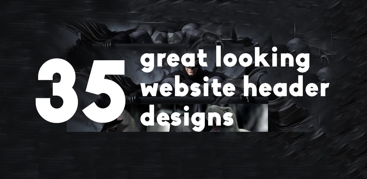 35 Great Looking Website Header Designs