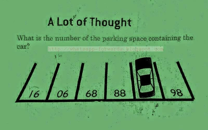 What is the number of the parking space containing the car