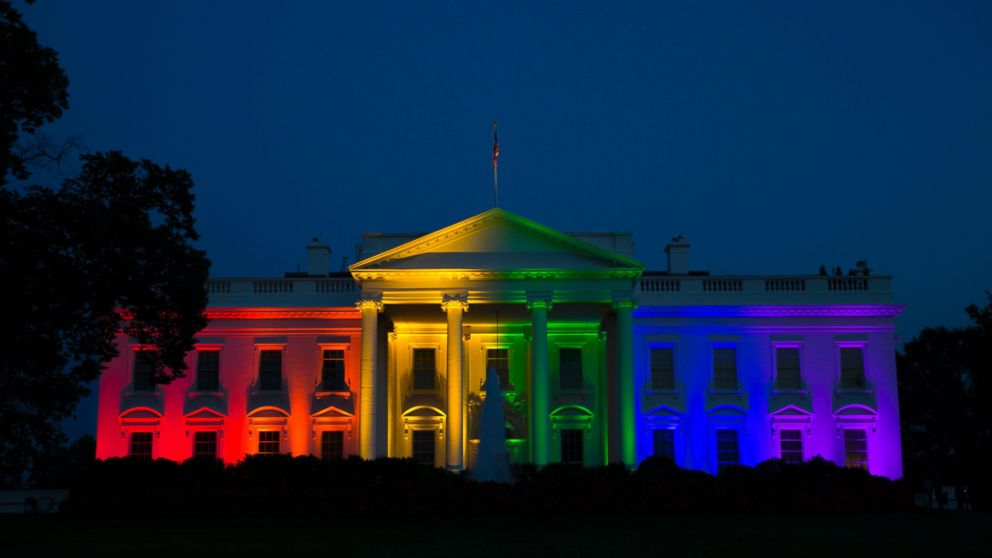 White House dons rainbow hues