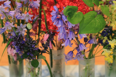 Five Vases of Spring Flowers