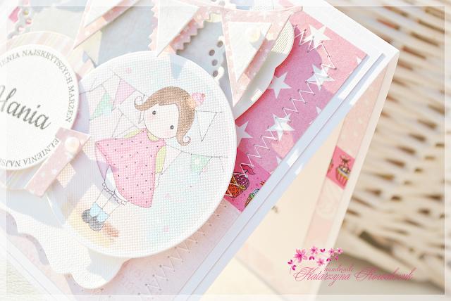 Kartka dla dziewczynki z okazji 1 urodzin
