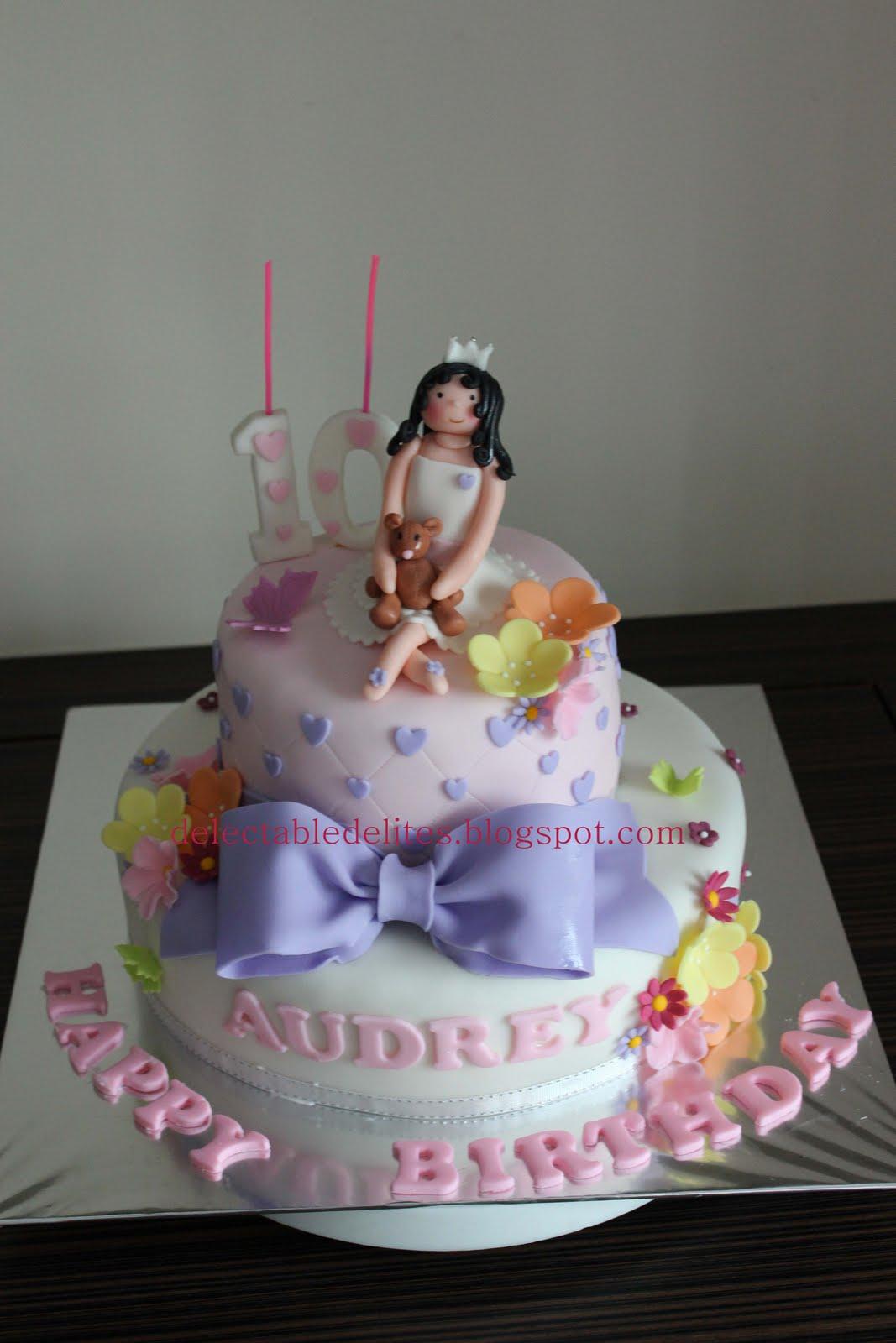 Delectable Delites: Princess theme cake