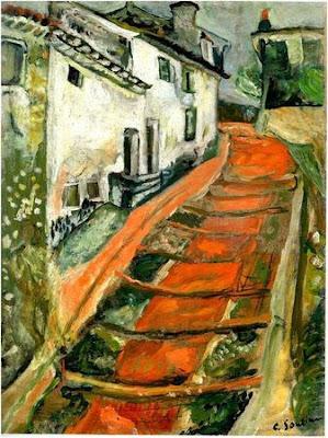 Chaïm Soutine. L'escalier rouge à Cagnes. c. 1918.