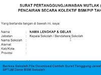 Berkas Sekolah File Download Contoh Surat Tanggung Jawab Mutlak SPTJM Dana BSM Sekolah