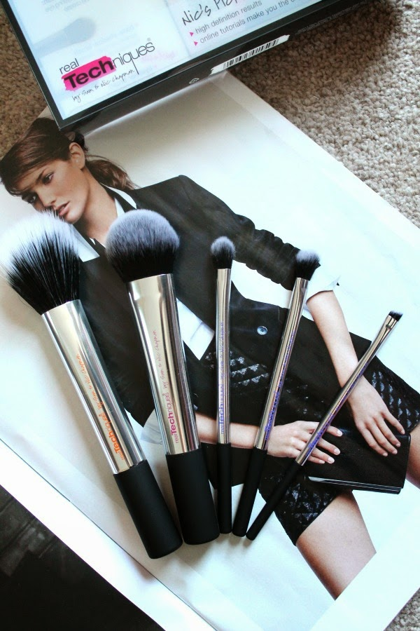 Real Techniques Nic's Pick 5 piece brush Set review