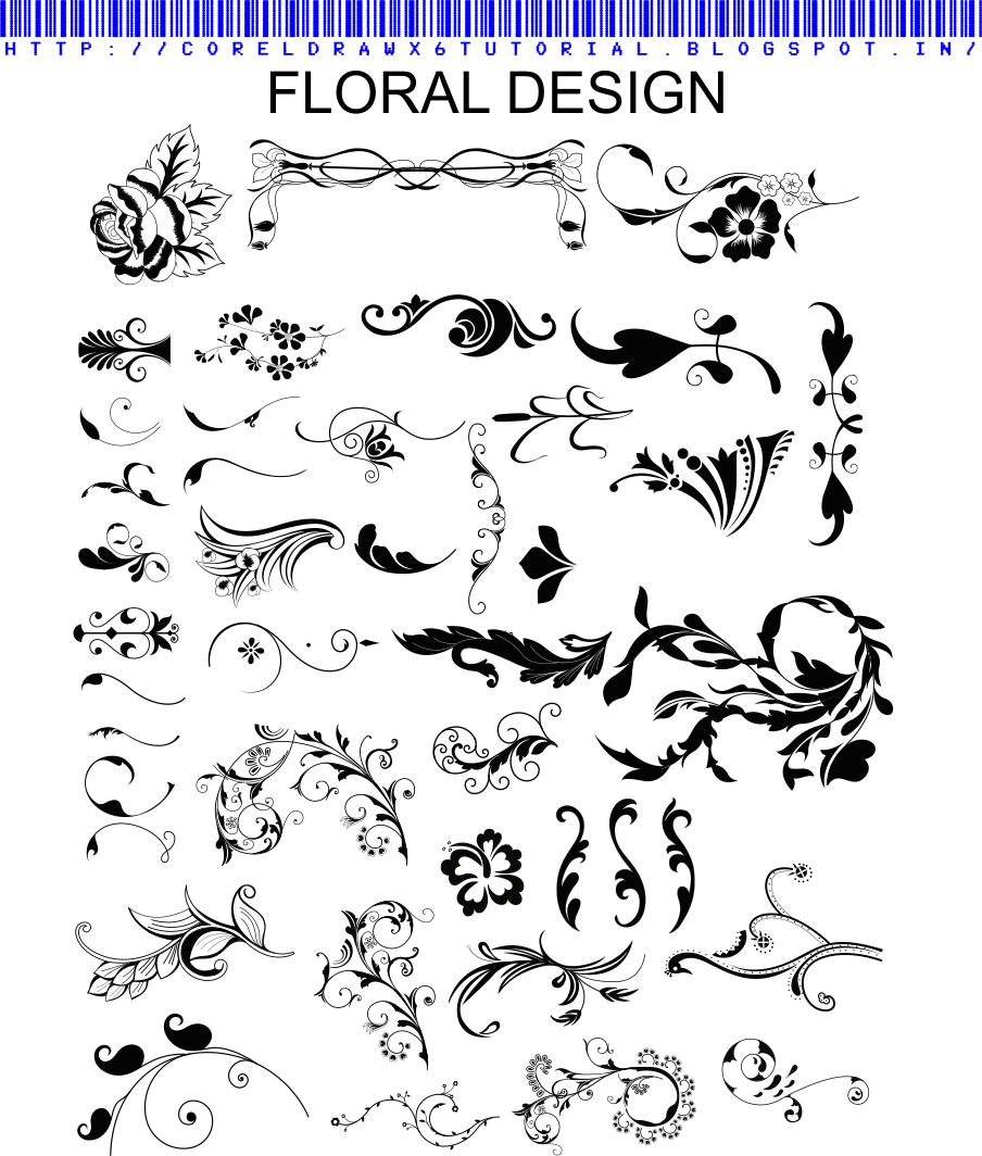 VECTOR FLORAL DESIGN IN CDR FORMATE